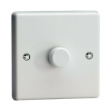 Varilight V-Pro 1 Gang 2 Way 120 Watt Push On/Off LED Dimmer Light Switch White Plastic